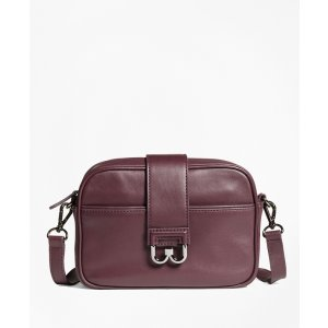 Leather Bridget Crossbody Satchel - Brooks Brothers
