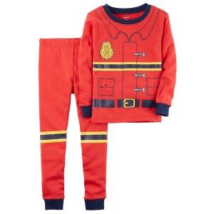 2-Piece Fireman Snug Fit Cotton PJs