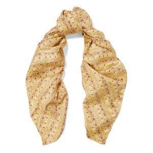 Printed silk-satin twill scarf