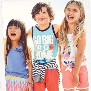 $5 All SizesKids Tees, Tanks, Shorts, Skirts Doorbuster!  @ OshKosh BGosh