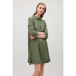 Shirt tunic dress - Khaki Green - Sale - COS US