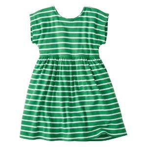Hanna Andersson Backyard Green Stripe Its a Playdress, Its a Daydress | zulily