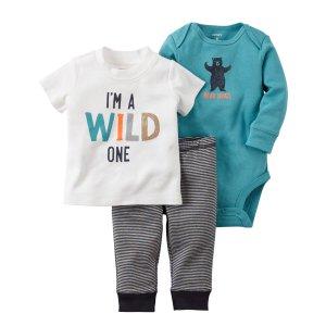 Baby Boy 3-Piece Babysoft Bodysuit & Pant Set | Carters.com