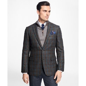 Regent Fit Multi-Windowpane Sport Coat - Brooks Brothers