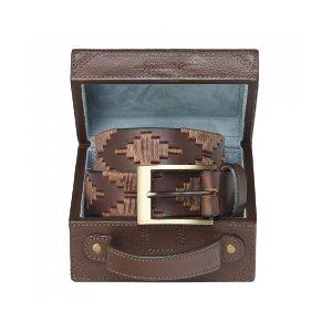 Pampeano Habano Polo Belt with Luggage Trunk Gift Box | Unineed | Premium Beauty & Fashion