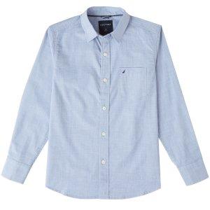 Boys' Chambray Shirt (8-16) - Delphinium Blue | Nautica
