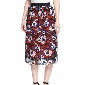 Self-Portrait Summer Lace A-Line Skirt, Multicolor
