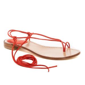 Stuart Weitzman | Nieta Lace-Up Flat Sandal | Nordstrom Rack