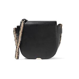Sharon leather shoulder bag | Maje