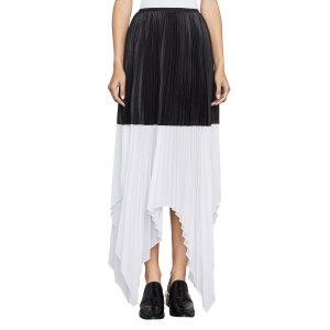 Christy Color-Blocked Asymmetrical Skirt