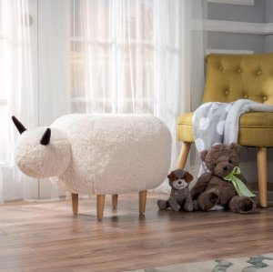 $65.49 Pearcy Velvet Sheep Ottoman by Christopher Knight Home