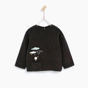 CLOUDS AND BALLOON SWEATER - CARDIGANS AND SWEATERS-BABY GIRL | 3 months-4 years-KIDS-SALE | ZARA United States