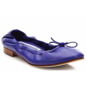 Manolo Blahnik - Tobaly Leather Ballet Flats - saks.com