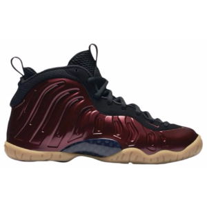 Nike Little Posite One - Boys' Grade School - Basketball - Shoes - Night Maroon/Night Maroon/Black/Gum Light Brown