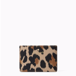 hyde lane leopard-print card holder