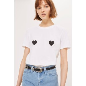 Heart T-Shirt by Tee & Cake - New In Fashion - New In - Topshop USA
