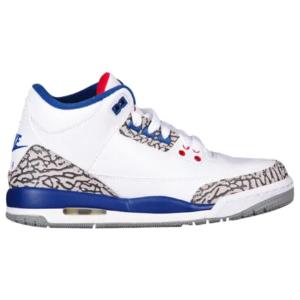Jordan Retro 3 - Boys' Grade School - Basketball - Shoes - White/Fire Red/True Blue/Cement Grey