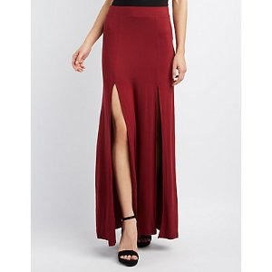 Double Slit Maxi Skirt | Charlotte Russe