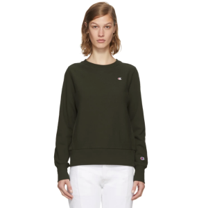 Champion Reverse Weave: Khaki Small Logo Sweatshirt