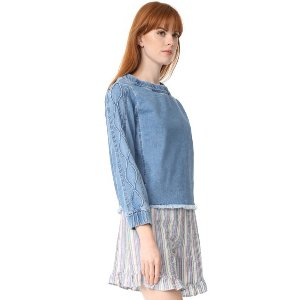 See by Chloe Denim Long Sleeve Top | 15% off first app purchase with code: 15FORYOU