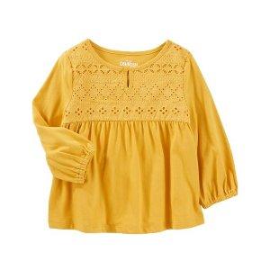Crocheted Jersey Top