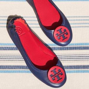 低至7折 收经典款Tory Burch官网 精选Minnie 芭蕾舞鞋热卖