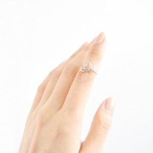 Rose Gold Moon Midi Ring