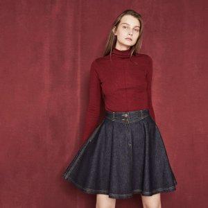JENNY Raw denim A-line skirt - Skirts & Shorts - Maje.com