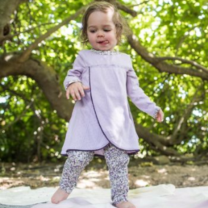 Petal Pointelle Dress & Pant Set