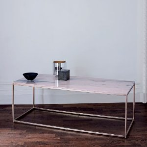 Mira Coffee Table - Storm Pink | west elm