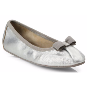 Salvatore Ferragamo - My Joy Leather Ballet Flats - saks.com