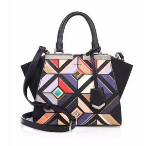 Fendi - Mini 3Jours Printed Leather Shopper - saks.com