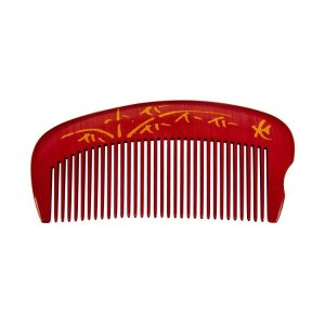 TAN'S Comb-Boxwood Natural Dyed Red 0604