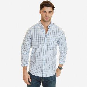 Classic Fit Mist Plaid Shirt - Light Dusk | Nautica