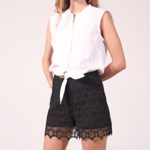 Dual Fabric Playsuit - Pants & Shorts - Sandro-paris.com