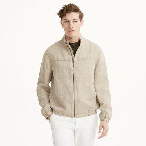 Herringbone Harrington Jacket