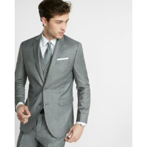 Slim Photographer Micro Twill Suit Jacket   Express
