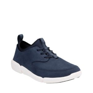 Triflow Form Blue Nubuck - Mens Shoes with Ortholite Technology - Clarks® Shoes Official Site