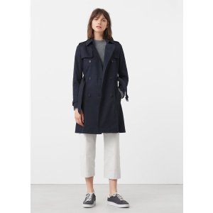 Classic cotton trench coat - Women | OUTLET USA