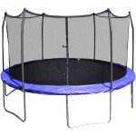 Skywalker Trampolines 12' Round Trampoline and Safety Enclosure - Blue
