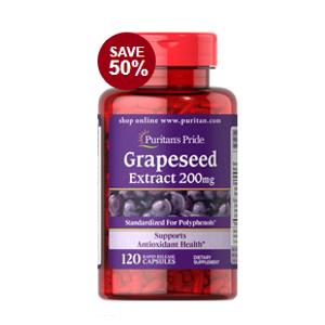 Grapeseed Extract 200 mg 120 Capsules | Semi-Annual Sale| Puritan's Pride