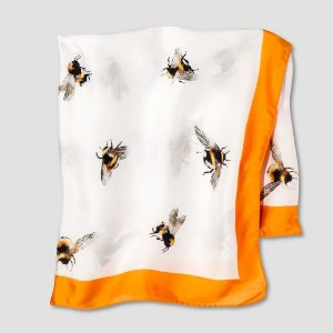 Women's Bee Print Scarf with Marigold Trim - Victoria Beckham for Target