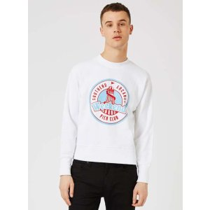TOPMAN DESIGN White Southend Arcades Sweatshirt - View All Clearance - Clearance - TOPMAN USA