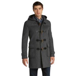1905 Collection Tailored Fit 3/4 Length Duffle Coat CLEARANCE - Outerwear   Jos A Bank