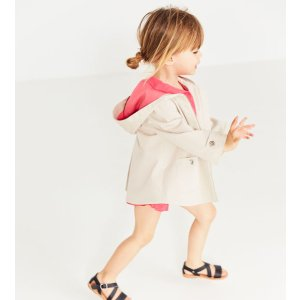 HOODED TRENCH COAT WITH GROMMETS - COATS-BABY GIRL | 3 months-4 years-KIDS-SALE | ZARA United States