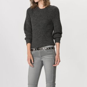 KALVIN Sweater in alpaca and wool - Sweaters - Maje.com