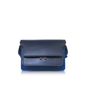 Marni Eclipse Blue Leather Medium Trunk Bag