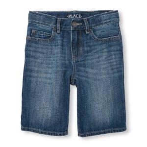 Boys Five-Pocket Denim Shorts - Blue Indigo Wash   The Children's Place