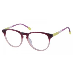 Peekskill - Burgundy/Clear Eyeglasses