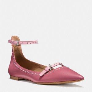 COACH: Jody 尖头平底鞋